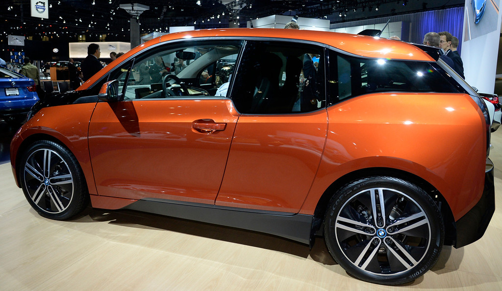 . Nov 20,2013 Los Angeles CA. USA.  BMW i3 car on display during the 2013 Los Angeles Auto Show. Photo by Gene Blevins/LA Daily News