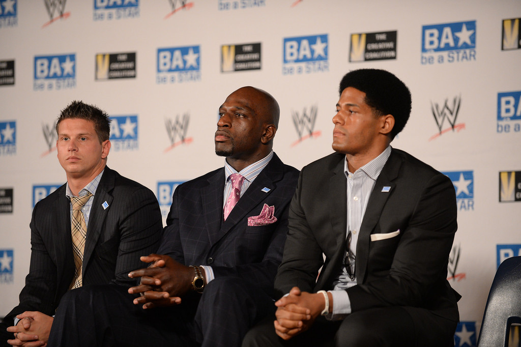 . WWE and The Creative Coalition launched the anti-bullying alliance, �Be a STAR� (Show Tolerance And Respect), to provide students with positive tools to prevent bullying in their schools and communities.  The mission of �Be a STAR� is to ensure a positive and equitable social environment for everyone regardless of age, race, religion or sexual orientation through education and awareness. Photo by Brad Graverson 8-15-13