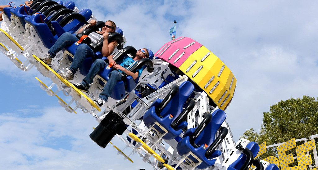 . Despite temperatures nearing 100 degrees and high humidity, fair-goers came to Pomona Friday August 30, 2013, for the first day of the 91st L.A. County Fair. The fair runs through September 29. (Photo by Rick Sforza/Inland Valley Daily Bulletin)