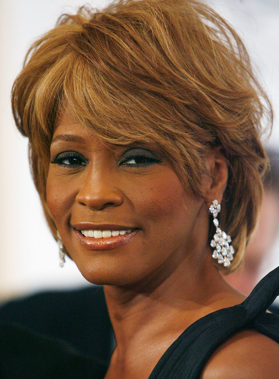 . Musician Whitney Houston arrives at the 17th Carousel of Hope Ball benefiting the Barbara Davis Center for Childhood Diabetes in Beverly Hills, Calif., Oct. 28, 2006.  (AP Photo/Matt Sayles-File)