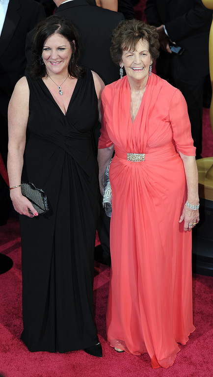 . Philomena Lee and Jane Libberton attend the 86th Academy Awards at the Dolby Theatre in Hollywood, California on Sunday March 2, 2014 (Photo by John McCoy / Los Angeles Daily News)