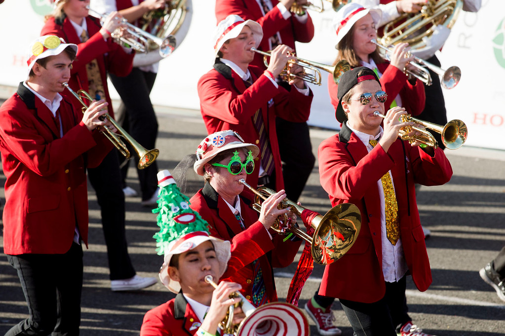 . Leland Stanford Junior University Marching Band during 2014 Rose Parade in Pasadena, Calif. on January 1, 2014. (Staff photo by Leo Jarzomb/ Pasadena Star-News)