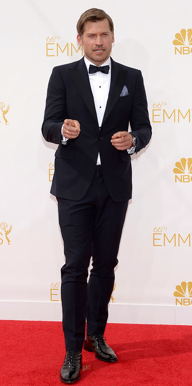 . Nikolaj Coster-Waldau on the red carpet at the 66th Primetime Emmy Awards show at the Nokia Theatre in Los Angeles, California on Monday August 25, 2014. (Photo by John McCoy / Los Angeles Daily News)
