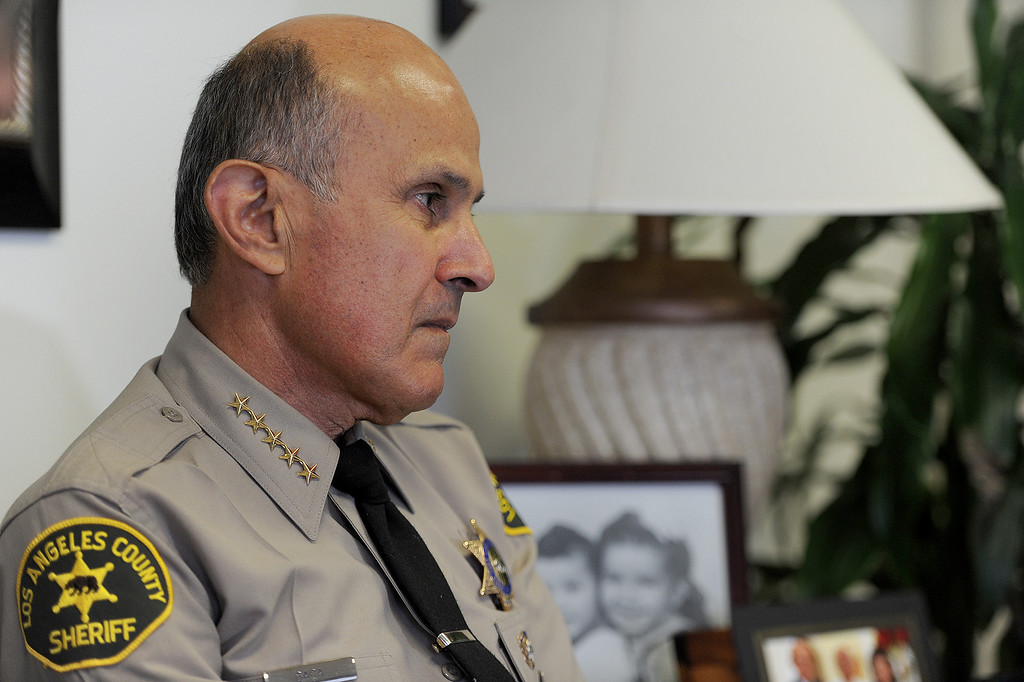 . L.A. County Sheriff Lee Baca will retire at the end of the month after 15 years of leading the largest Sheriff\'s Department in the nation. He is photographed in his office in Monterey Park, Calif., on Thursday, Jan. 9, 2014. (Photo by John McCoy/Los Angeles Daily News)